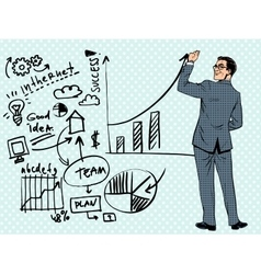 Businessman drawing business concept of success vector image