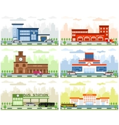 City departments buildings vector