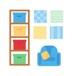 comfortable cozy baby room decor children bedroom vector image vector image