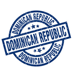 Dominican republic blue round grunge stamp vector