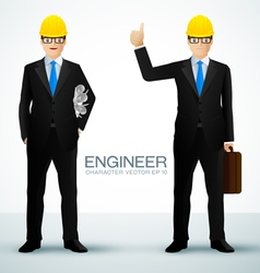 engineer character vector image vector image