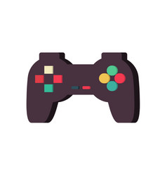 Gamepad isolated joystick on white background vector