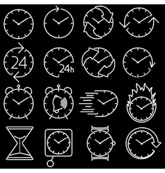 icon set clock vector image vector image