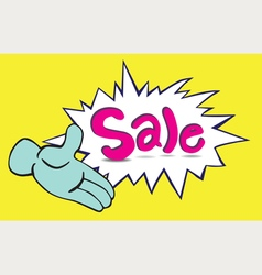 One Hand Sale vector image