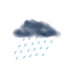 Rainy day isolated icon vector