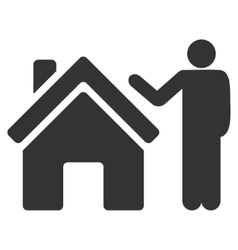 Realty buyer flat icon vector