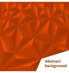 Red Polygonal Background vector image vector image