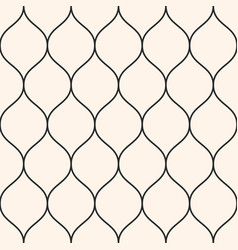 seamless pattern thin wavy lines vertical mesh vector image vector image