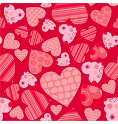 Seamless valentine pattern vector