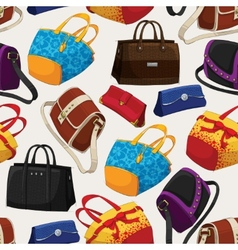 Seamless womans fashion bags pattern vector