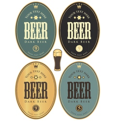 set beer dark vector image