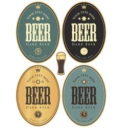 set beer dark vector image vector image