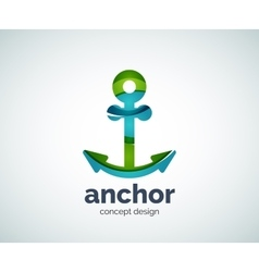 Ship anchor logo template vector