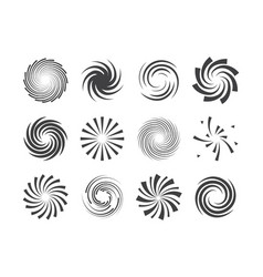 Spiral and swirl motion twisting circles design vector