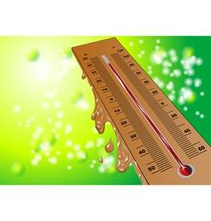 summer heat vector image
