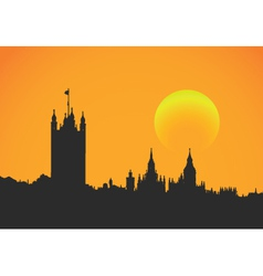 Sunset at westminster vector