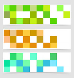 tile color mania abstract header collection vector image