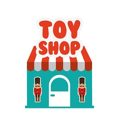 Toys kids shop design vector