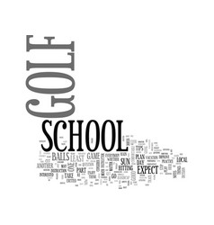 What you must take to golf school text word cloud vector