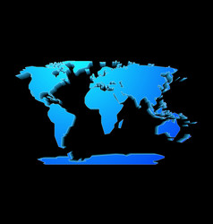 Dot style world map royalty free vector image vectorstock world map perspective vector image gumiabroncs Choice Image