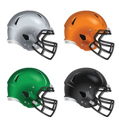 Football helmets with black facemasks vector image