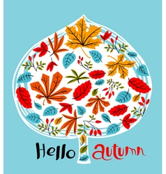 Fall season background design vector