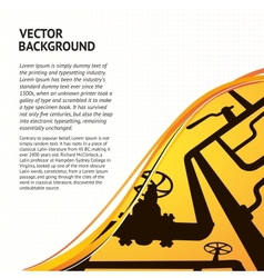 Oil pipelines vector
