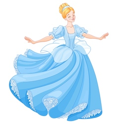 The ball dance of cinderella vector