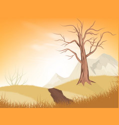 dry tree vector image