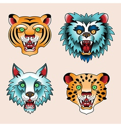 Tattoo animals vector