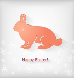 Rabbit back vector