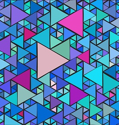 Random triangles background vector