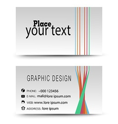 Business card color vector image