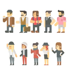 Flat design of travel people set vector