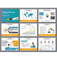 Business infographics presentation slides template vector