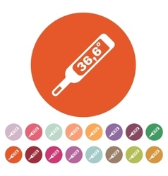 The medical thermometer icon healthy and vector