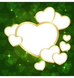Heart frame green vector