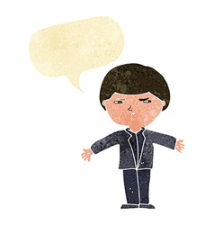 Cartoon annoyed man with speech bubble vector