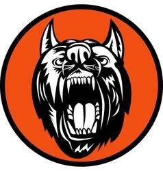 Angry Dog barking growling at you vector image vector image