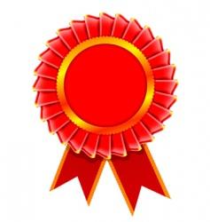 award rosette vector image