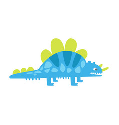 blue cute styracosaurus prehistoric animal vector image vector image