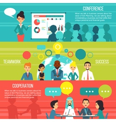 Business People Horizontal Banners vector image vector image