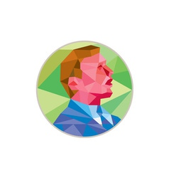 Businessman looking up circle low polygon vector