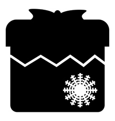 Christmas box icon simple style vector image vector image