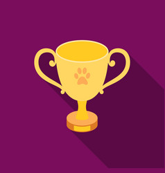 Dog award icon in flat style for web vector
