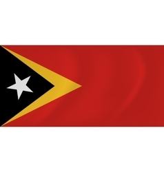 East timor waving flag vector