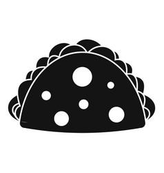 Empanada cheburek or calzone icon simple style vector