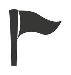 Flag goal success icon vector