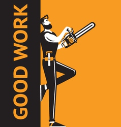 good work man vector image