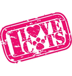 I love cats stamp vector image